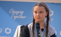 Chiến binh khí hậu Greta Thunberg. (Ảnh: Adaptationfund.org)