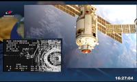 Hình ảnh mô-đun Nauka trong quá trình cập bến ISS. (Ảnh: Roscosmos)