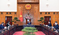 Thủ tướng Phạm Minh Chính trong cuộc tiếp Đại sứ Rumania. (Ảnh: Mofa)