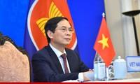Bộ trưởng Bùi Thanh Sơn dự Hội nghị Bộ trưởng Ngoại giao ASEAN - Trung Quốc ngày 3/8. (Ảnh: Mofa)