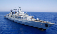Tàu khu trục Bayern của Đức lên đường từ ngày 2/8 và dự kiến tháng 12 sẽ đến Biển Đông. (Ảnh: DW)
