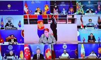 Các Bộ trưởng ngoại giao ASEAN - Úc dự hội nghị trực tuyến ngày 4/8. (Ảnh: Mofa)