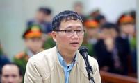 Bị cáo Trịnh Xuân Thanh tại tòa