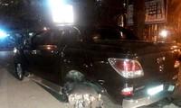 Chiếc xe bán tải gây tai nạn.