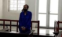 Bị cáo Toản tại phiên tòa.