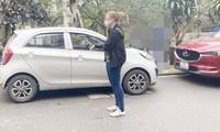 Nạn nhân chỉ nơi cô bị tấn công trên địa bàn phường Quảng An, Tây Hồ. Ảnh VOV
