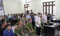 Phiên tòa xét xử sơ thẩm vụ gian lận thi cử ở Hà Giang vào tháng 10/2019.