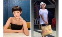 Hiền Hồ bất ngờ nữ tính với kiểu tóc mới; H'Hen Niê tự tin với túi cói đi chợ