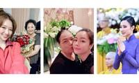 Hari Won, Nhật Kim Anh hạnh phúc bên mẹ; Angela Phương Trinh diện áo dài tại lễ Vu Lan