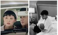 Hiền Hồ vào vai cô y tá trong cảnh quay lãng mạn; Con trai Hồ Ngọc Hà bế em cực khéo