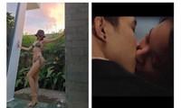 """Tóc Tiên mặc bikini khoe đường cong """"bỏng mắt""""; Châu Bùi hôn say đắm Anh Tú?"""