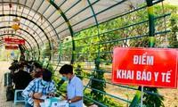 Sinh viên trường ĐH Sài Gòn phải khai báo y tế hằng ngày mới được đến trường.