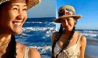 Tung ảnh quyến rũ bên bờ biển, diva Hồng Nhung trẻ đẹp tựa đôi mươi