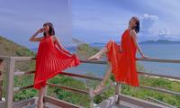 Tóc Tiên diện váy rộng thùng thình giữa nghi vấn mang thai