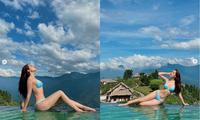 'Bỏng mắt' ngắm Chi Pu thả dáng siêu gợi cảm bên bể bơi