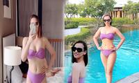 Lã Thanh Huyền diện bikini siêu nóng bỏng 'đốt mắt' fans