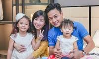 Hình ảnh hạnh phúc của gia đình diễn viên Hồng Đăng.