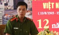 Trung uý Lê Hoàng Hảo. Ảnh:Quốc Thắng.