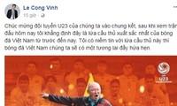 Sau Thành Lương, đến lượt cựu tiền đạo Công Vinh 'ngả mũ' trước U23