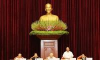 Thủ tướng Chính phủ Nguyễn Xuân Phúc điều hành phiên thảo luận. (Ảnh: Trí Dũng/TTXVN)