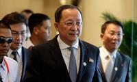 Ngoại trưởng Triều Tiên Ri Yong Ho. Ảnh: AP