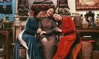 3 chị em nghệ sĩ: Lê Vân, Lê Khanh và Lê Vi.