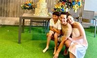 Hồ Ngọc Hà lộ bụng bầu khi tổ chức sinh nhật Subeo