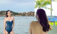 MC thời tiết Mai Ngọc mặc bikini khiến ai nhìn cũng mê đắm