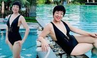 Lần hiếm hoi MC Thảo Vân khoe ảnh bikini ở tuổi 50