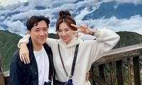 Vài ngày trước, Trấn Thành và Hari Won cùng nhóm bạn thân đi du lịch ở Sapa. Ảnh: FBNV.