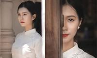 Nhan sắc đài các của cô gái 18 tuổi 'miền gái đẹp' thi Hoa hậu Việt Nam 2020