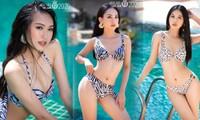 Nóng 'bỏng mắt' với hình thể của top 35 HHVN 2020 trong bộ ảnh bikini mới