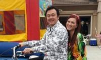 Nghệ sĩ Chí Tài và vợ- chị Phương Loan (hay còn gọi là bé Heo).