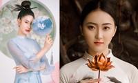 2 cô gái lọt Top 5 Người đẹp Thể thao HHVN 2020 'đọ sắc' với áo dài