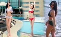 Dàn người đẹp Hoa hậu Việt Nam cực nóng bỏng với bikini
