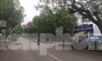 Đường phố Lạng Sơn và khu chợ đầu mối Chi Lăng thuộc phường Chi Lăng khá vắng vẻ, bình lặng .Ảnh Duy Chiến