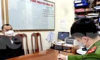 Đối tượng Y khai báo tại cơ quan công an Lạng Sơn .Ảnh: Nguyễn Thái