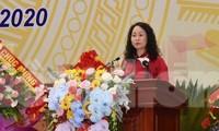 Đồng chí Lâm Thị Phương Thanh, Bí thư tỉnh ủy khóa XVI, tái cử chức vụ Bí thư tỉnh ủy nhiệm kỳ 2020-2025 .Ảnh: Duy Chiến