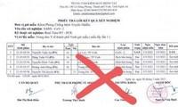 Xuất hiện phiếu kết quả giả ca dương tính COVID-19 ở Nghệ An