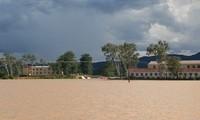 Ngập lụt diện rộng, hàng loạt trường ở Nghệ An thông báo học sinh nghỉ học