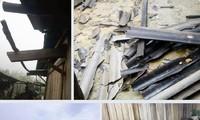 Nghệ An: Mưa đá văng tung toé, nhiều nhà dân hư hỏng nặng