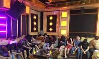 Bắt 13 đối tượng nam nữ sử dụng ma túy trong quán karaoke