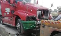 Nữ công nhân công ty môi trường tử vong sau khi va chạm với xe container