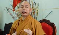 Thượng tọa Thích Đức Thiện nói về sự việc chùa Ba Vàng truyền bá vong báo oán. Ảnh: Nguyên Khánh