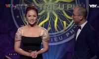 Thu Quỳnh là một trong hai khách mời Ai là triệu phú số đặc biệt sinh nhật VTV3