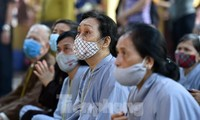 Giáo hội Phật giáo Việt Nam yêu cầu tạm dừng lễ hội, pháp hội, các khóa tu tập trung đông người. Ảnh: Như Ý