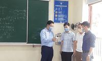 Lãnh đạo Sở GD&ĐT Bắc Ninh kiểm tra công tác phòng dịch ở trường học.