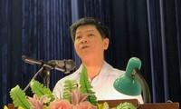 Ông Phạm Quốc Toản, Trưởng phòng khảo thí thi và Kiểm định chất lượng (Sở GD&ĐT Hà Nội) tại hội nghị hướng dẫn tuyển sinh.