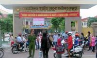Trường tiểu học Đồng Phú, nơi xảy ra sự việc.