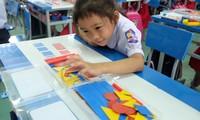 Học sinh lớp 1 của Trường Tiểu học Đông La (huyện Đông Hưng, tỉnh Thái Bình) trong một giờ học.